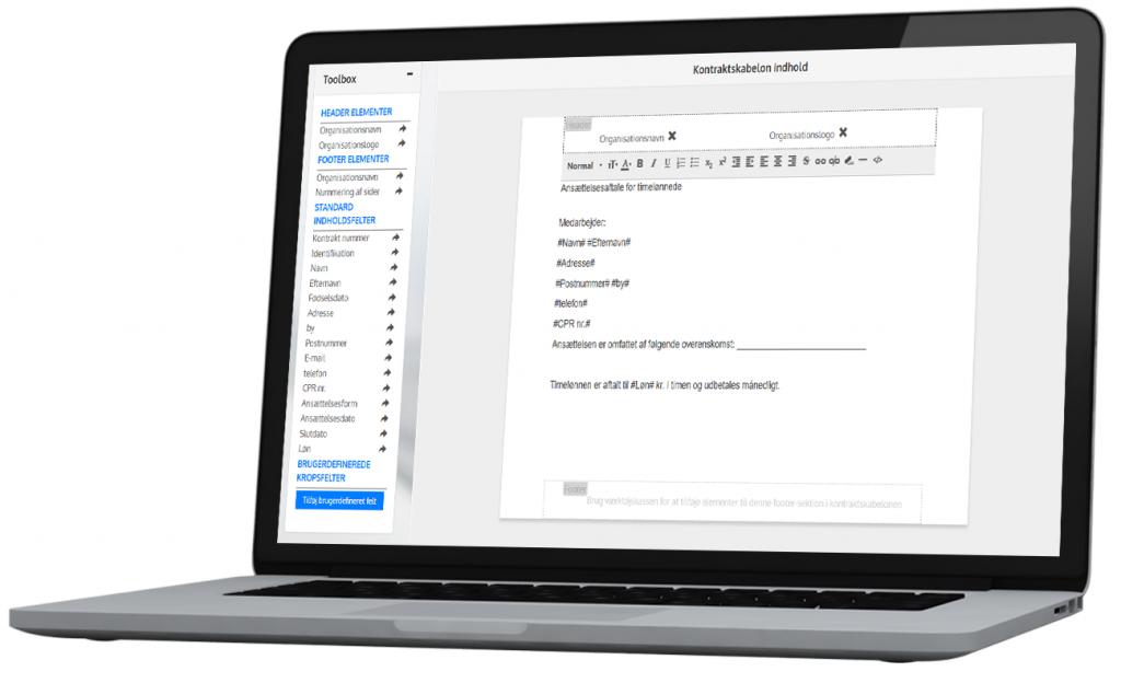 E-signing modulet er et selvstændigt modul i HRM-Nordic HR System